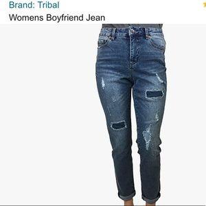 Tribal Boyfriend Jeans
